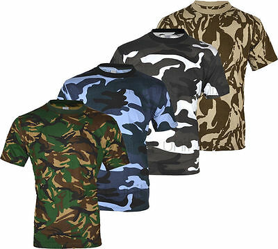 E1 Mens Military Camouflage T Shirt Camo Army Combat New S-5Xl