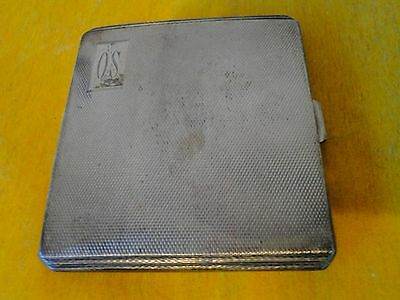 Cigarette Case Sterling Silver Art Deco, Birmingham 1941 Engine Turn Design