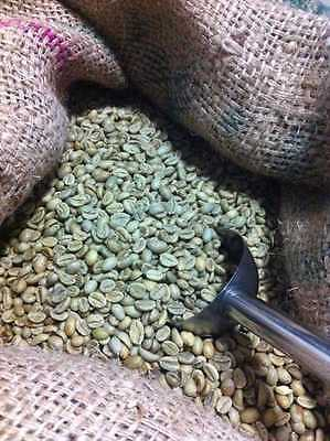 1 KG Organic Ethiopian Limu Grade 2 Arabica Washed Green Fair Trade Coffee Beans