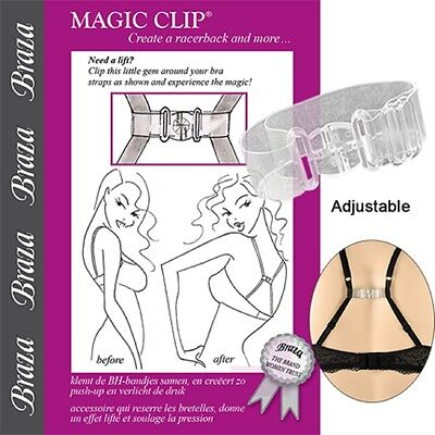 Braza Magic Clip Bra Strap Adjuster Cleavage Enhancing Racerback Bra Converter