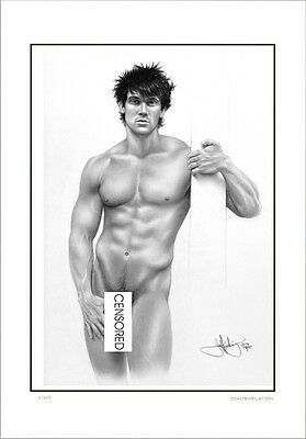 Standing  Male  Nude    Study       Gay  Interest          Limited Edition
