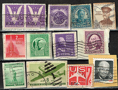 US at War Army stamps on paper lot 1940s