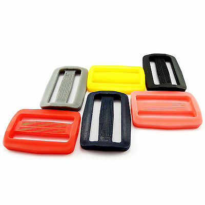 "38 mm / 1.5"" - plastic DELRIN buckles slider 3 bar slider for webbing strap AOI"
