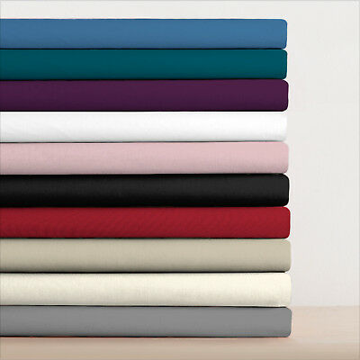 Percale poly cotton fitted sheets single double king super king non iron