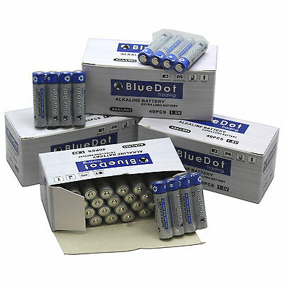 Lot of 120 BlueDot Genuine AAA Size Alkaline Battery (Free Shipping from US)