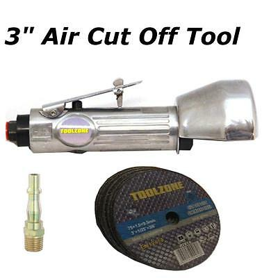 """3"""" Air Cut Off Tool 75mm  With 10 Discs + PCL Connector Slitting Cutting"""