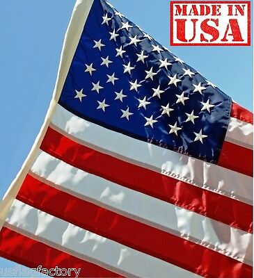 US Flag Factory 2.5 x 4 Foot US AMERICAN FLAG Outdoor SolarMax Nylon Flag (9254)