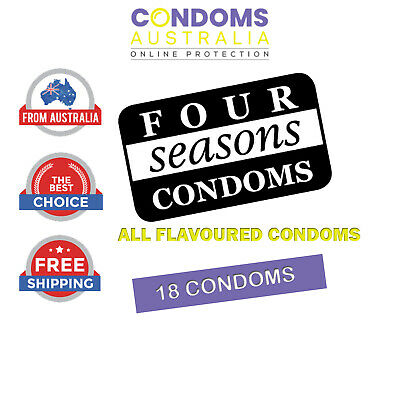 Four Seasons All Flavoured Bulk Condom (18 Condoms) Free Shipping