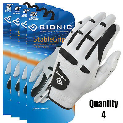 4 x BIONIC Mens StableGrip Golf Gloves with Natural Fit /Right & Left Hand avail
