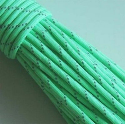 New Tactical Paracord Glow In The Dark Reflective Camping Hiking Survival Crafts