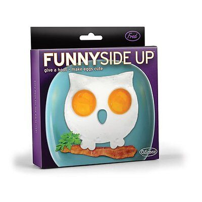 Fred Egg Shaper Funny Side Up Owl - Fried Egg Silicone Mould For Fry Pan, Hoot!