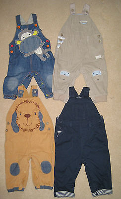New Baby Next Dungarees 0-18 months Dog Monkey