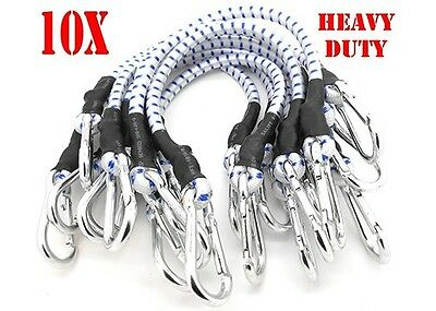 "10PC 24"" Heavy Duty Bungee Cords 24 inch Thick Tie Downs w/ Hooks CAL-HAWK BRAND"