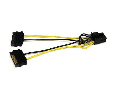 StarTech.com 6 inch SATA Power to 8 Pin PCI Express Video Card Power Cable