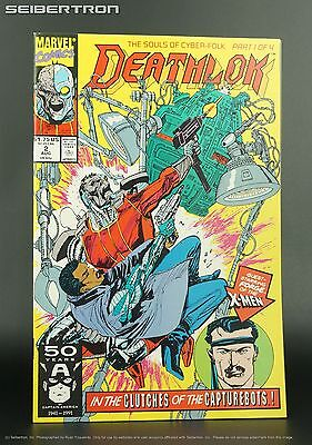 Deathlok #2 Marvel Comics 1991 Monthly Series X-Men Forge Souls of Cyber-Folk