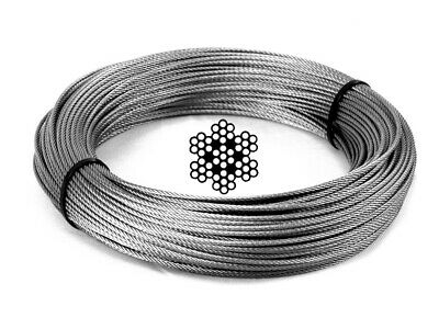 Wire Rope 305 Meter - G316 Stainless Steel 2.0mm 49 Strand 254kg Line