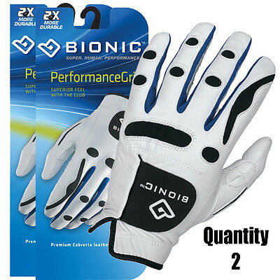 2 x  Bionic Mens Performance Golf Gloves. Tour Feel Dexterity Left & Right Hand