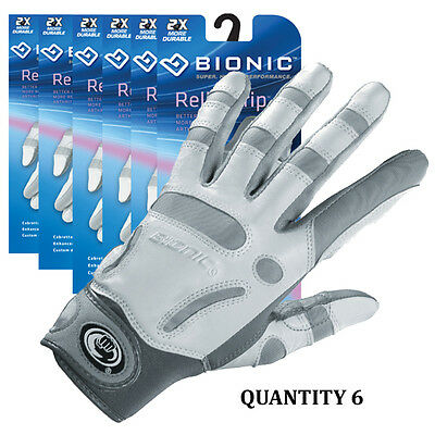 6x Bionic Womens Arthritic Relief Grip Golf Glove w/enhanced padding and support