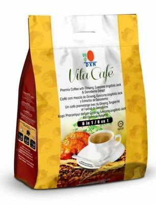 1 Box DXN Vita Cafe 6 in 1 Ginseng Tongkat Ali Ganoderma + Free Express Shipping