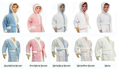 100% Cotton Kids Children Bath Robe / Swimming Robe Bathrobe Size 2,4,6,8,10