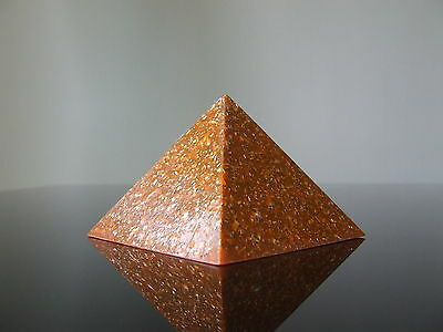 """Orgone Quantum Wiccan Large 5"""" Pyramid LifeForce Spiral Creativity Productivity"""