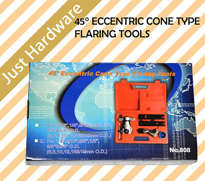Eccentric Cone Type Flaring Tool Refrigeration Flare Kit Copper