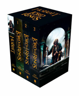 J. R. R. Tolkien The Lord Of The Rings The Hobbit 4 Books Collection Boxed NEW