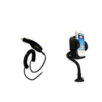 EMPIRE Car Charger (CLA) + Car Dashboard Mount for Motorola Phones [EMPIRE Packa