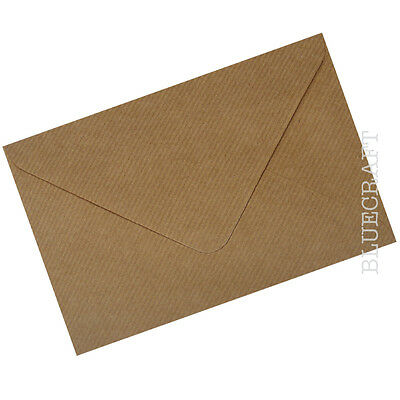 100 x A5 C5 Brown Ribbed Kraft Envelopes 100gsm for Invites