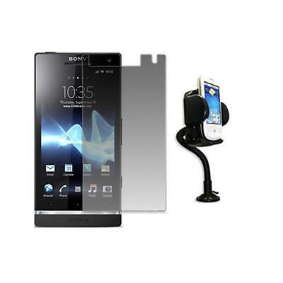 EMPIRE Screen Protector + Car Mount Phone Holder for Sony Ericsson Xperia S T26i