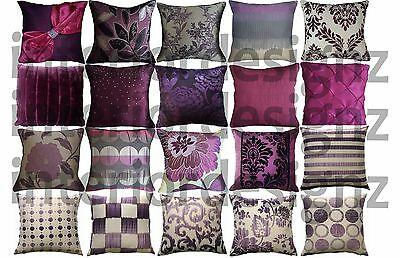 NEW Purple Collection Various Beautiful Designs Luxury Quality Cushion Covers