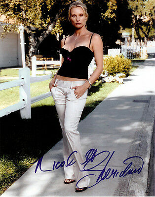 NICOLLETTE SHERIDAN SIGNED 8X10 PHOTO RP DESPERATE HOUSEWIFES