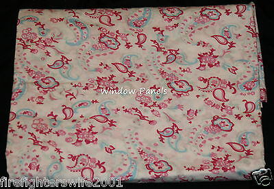 Simply Shabby Chic Baby Petite Paisley Window Panels pink blue paisley