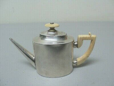 FABULOUS 19th C. MINIATURE ENGLISH STERLING SILVER COFFEE POT, DATED 1892