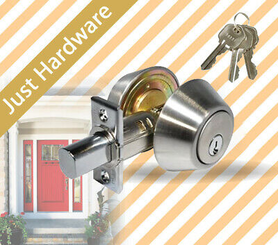 Double Cylinder Deadbolt Dead Bolt Door Lock Polished Chrome for Doors New AU