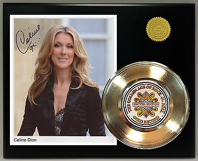 Celine Dion Gold 45 Record Signature Series Ltd Edition  Free U.s Shipping