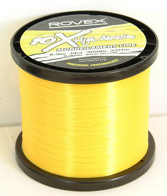 Rovex 10X High Abrasion Sea Fishing Line - Bulk 1/4 Kg Yellow / Clear / Red