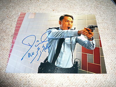 DANIEL WU signed Autogramm 20x25 cm In Person MARTIAL ARTS STAR rar