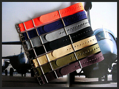 24mm NATO G10 Ballistic Nylon watchband strap Military Bonded IW SUISSE 18 20 22