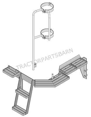 John Deere 8235 8260 8285 8310 8335 8360 New Right Hand Window Step Assembly