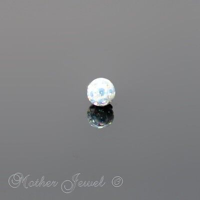 16G Surgical Steel Aurora Crystal Lip Tragus Eyebrow Belly Bar Replacement Ball
