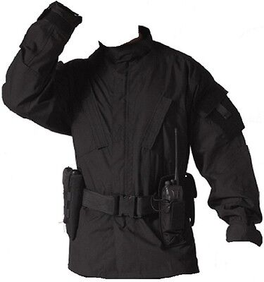 Black Police Tactical Military Combat Tactical Rip-Stop BDU ( SHIRT ONLY ) 5450