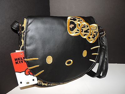 NWT Hello Kitty Loungefly Brown Black Leopard Leather Shoulder Crossbody Bag