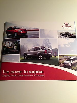 "2008 KIA ""Full-Line"" 28-page Original Sales Brochure"