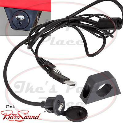 "RetroSound USBPORT USB/Aux 54"" Extension Cable w/ integrated Cover&Dash Mount"