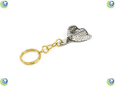 Dental Hygienist Perforated Impression Tray Keychain Novelty Stainless Steel