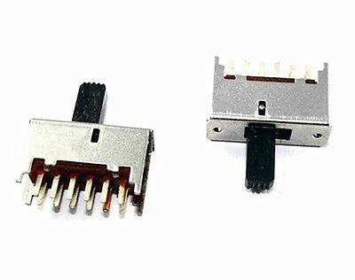 Slide Switch 4PDT PCB Mount - Lot of 3 pieces