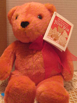 "AVON VALENTINO THE TALKING LOVE BEAR 14"" NEW IN BAG"