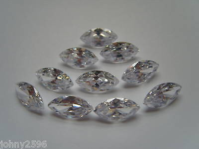one,white/clear 7x14mm marquise cut loose CZ gemstone for £1.50p