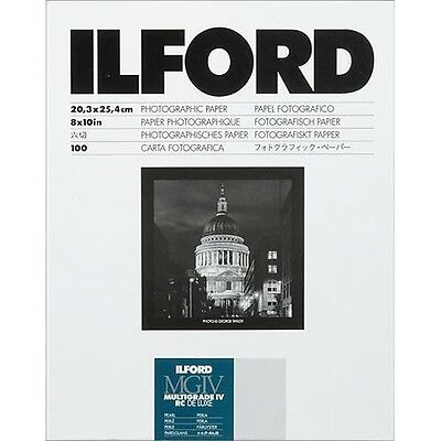 Ilford 8x10 Multigrade IV RC DLX Black and White Paper 100 Sheets Pearl #1771318
